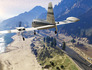 GTA 5 - piloting over the coastline in Cuban 800