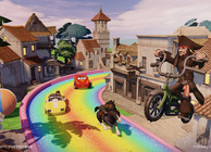 Disney Infinity PotC toy box mode Jack Sparrow on bicycle