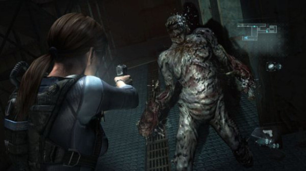 Resident Evil: Revelations shooting a zombie