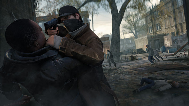 Watch Dogs hold up with a gun
