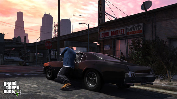 Grand Theft Auto V Screenshot - GTA 5 carjacking