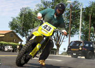 GTA 5 dirt bike cop chase