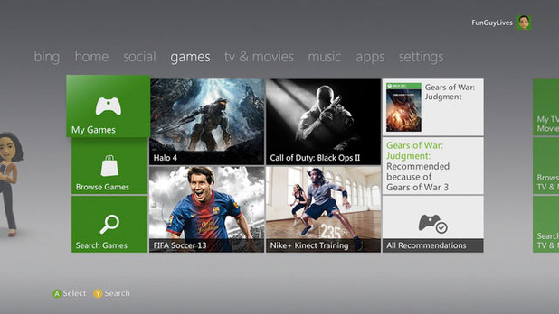Xbox One Screenshot - Xbox 360 dashboard