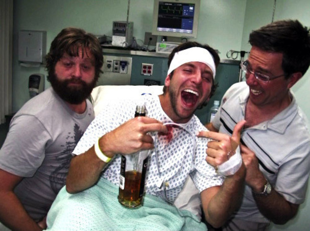 The Hangover drunk photo in hospital