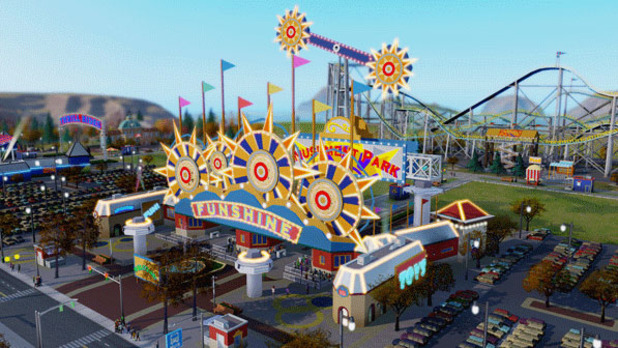 SimCity's Amusement Park gate