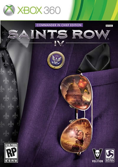 saints row 4 commander in chief edition xbox 360 box