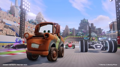 Disney Infinity Toy Box mode racing Mater