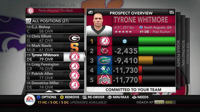 NCAA Football 14 Screenshot - NCAA Football Power Recruiting