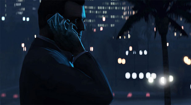 GTA 5 Michael on the phone