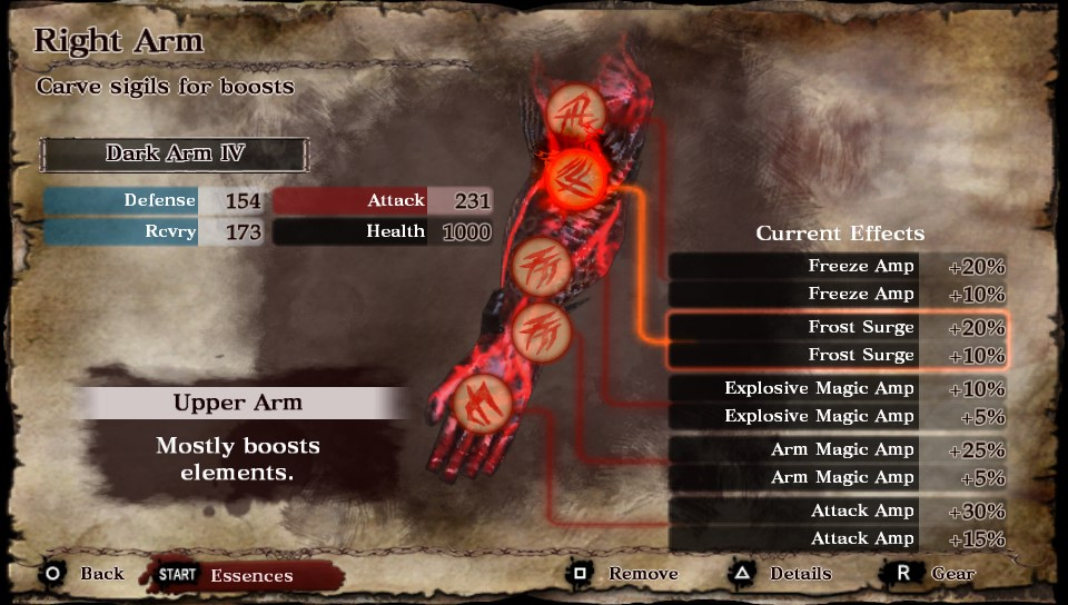 Soul Sacrifice Dark Arm IV