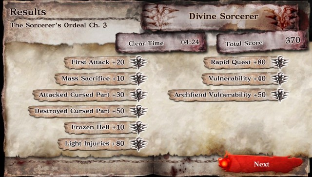 Soul Sacrifice Sorcerer Ranks