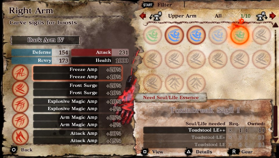 Soul Sacrifice Sigil requirements
