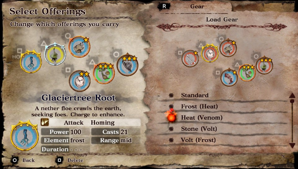 Soul Sacrifice loading gear example