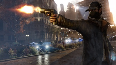 Watch Dogs Screenshot - Aiden Pearce shooting gun