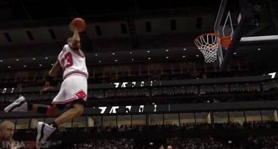 NBA 2K14 Screenshot - Michael Jordon dunking