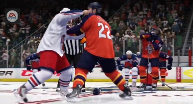 NHL 14 fighting Enforcer Engine