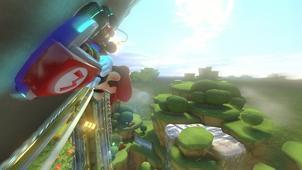 Mario Kart 8 Screenshot - Mario Kart 8 anti gravity