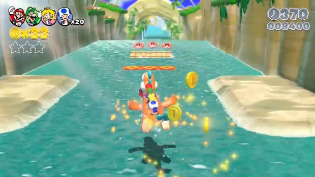 Super Mario 3D World swimming