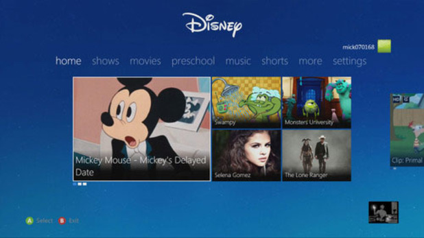Xbox 360 Screenshot - Disney App on Xbox 360
