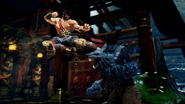 Killer Instinct (2013) Screenshot - Jago kicking Sabrewulf