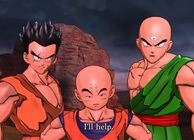 Yamcha, Tien and Krillin