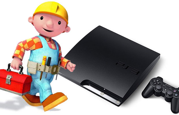 Bob the builder with a PS3