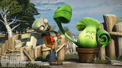 Plants vs. Zombies: Garden Warfare Screenshot - Punching a zombie