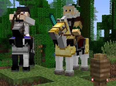 Minecraft Screenshot - Minecraft Horse Update