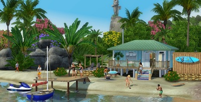 The Sims 3 Island Paradise Screenshot - The Sims 3 Island Paradise beach house