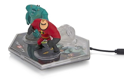 PDP Disney Infinity base protector with figures