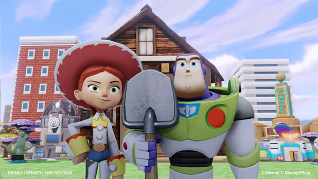 Disney Infinity Screenshot - Disney Infinity Toy Box Buzz and Jessie farmer