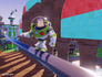 Disney Infinity Toy Box Buzz sliding on rail