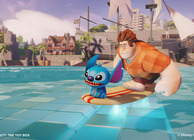 Disney Infinity Toy Box Ralph and Stitch riding surfboard