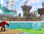 Disney Infinity Toy Box Ralph and Mr. Incredible placing buildings