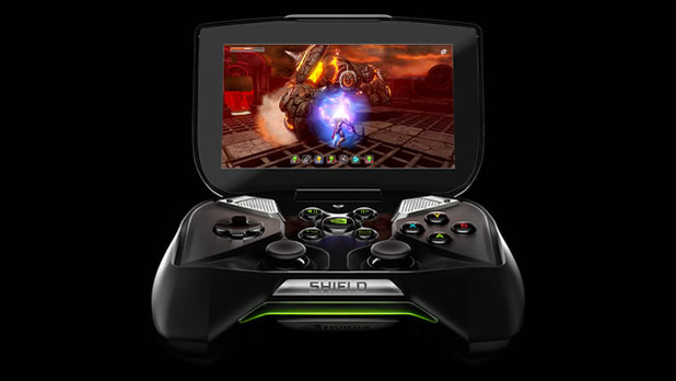 Nvidia Shield front open