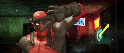 Deadpool peace sign