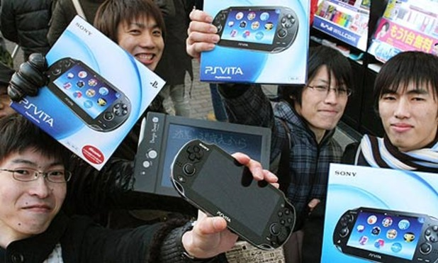 Japanese people buying the Vita