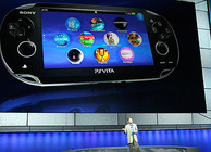 Kaz Hirai introducing the PS Vita