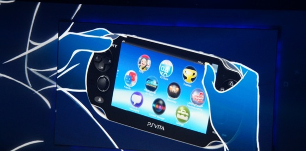 Man playing PS Vita
