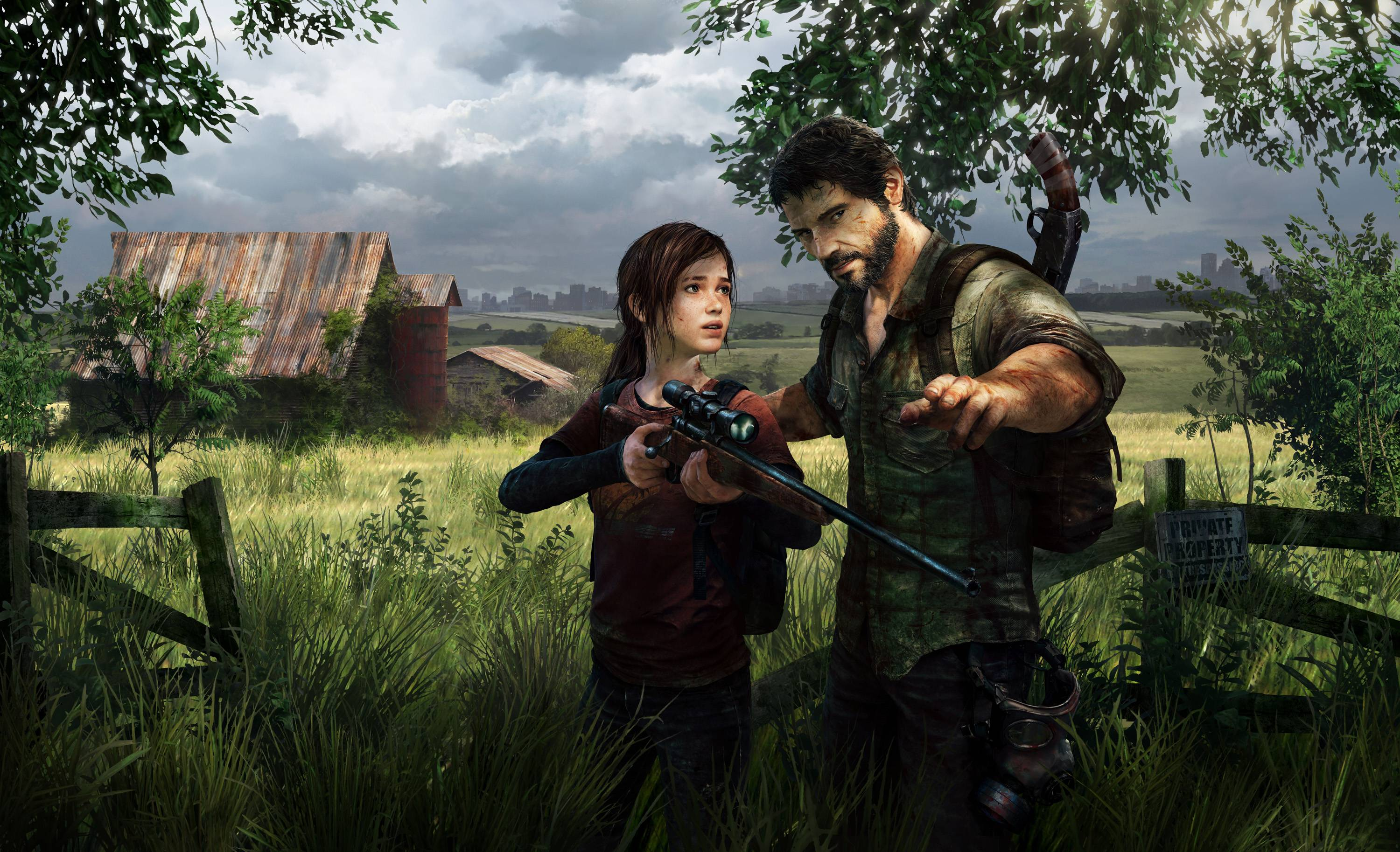 Joel and Ellie in The Last of Us
