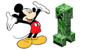 Mickey Mouse with a creeper