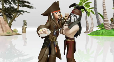 Disney Infinity Screenshot - Jack Sparrow meets Tonto Disney Infinity