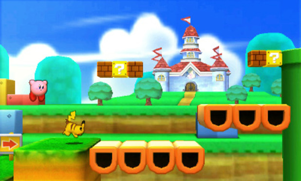 Super Smash Bros. for 3DS / Wii U Screenshot - Super Smash Bros 3DS - Super Mario 3D Land Stage