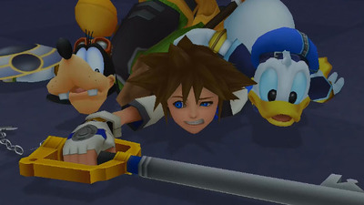 Kingdom Hearts HD 1.5 ReMIX Screenshot - Kingdom Hearts HD 1.5 ReMIX - Donald, Goofy, Sora