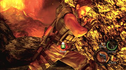 Resident Evil 5 co-op QTE example