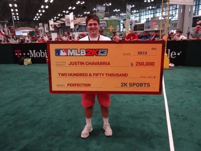 MLB 2K13 Perfect Game Challenge winner