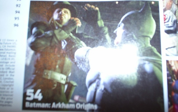 Batman: Arkham Origins Screenshot - Batman holding Mad Hatter by throad