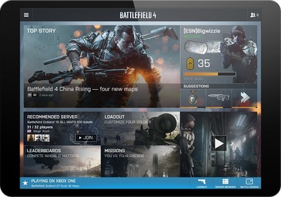 Battlefield 4 Screenshot - BF4 Battlelog on Tablet