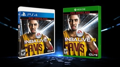 Kyrie Irving NBA LIVE 14 cover athlete