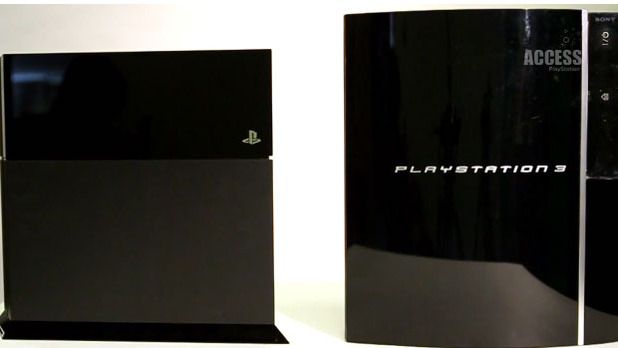 PS3 vs PS4 size